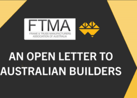 Open Letter to Australian Builders from FTMA