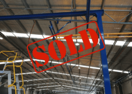 SOLD – Gorbel® Ceiling Mounted Bridge Crane