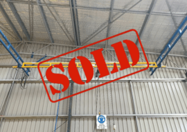 SOLD – Gorbel® 250kg Ceiling Mounted Bridge Crane